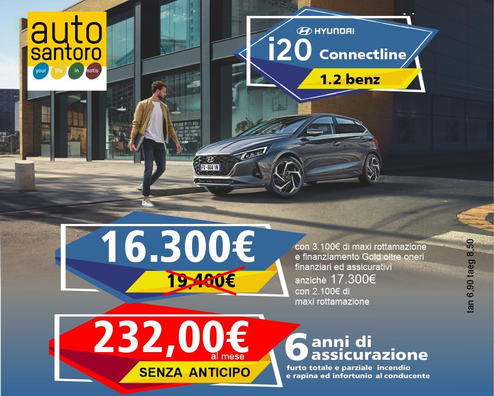 Nuova Hyundai i20 1.2 Benz. Advanced con clima, radio e comandi al volante